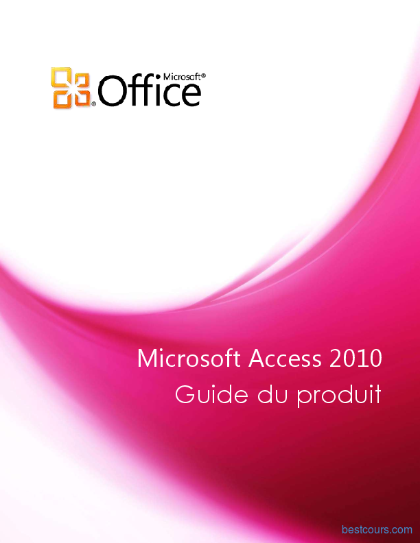 Tutoriel Guide Microsoft Access 2010 1