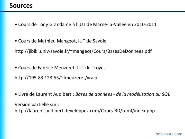 Tutoriel Le langage SQL 2