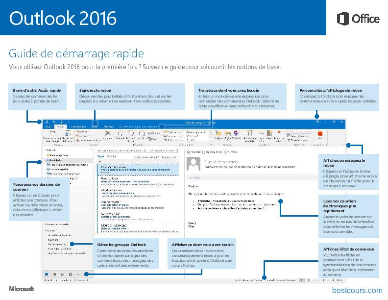 Tutoriel Outlook 2016 Guide de démarrage rapide 1