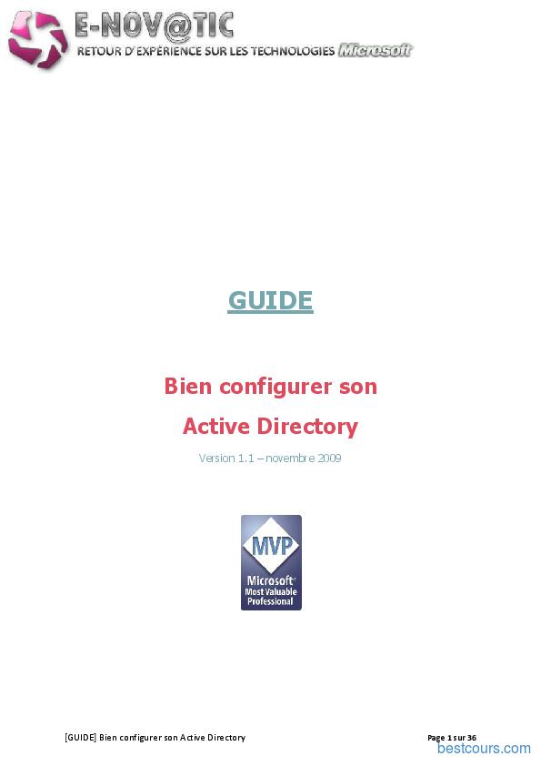 Tutoriel Bien configurer son Active Directory 1
