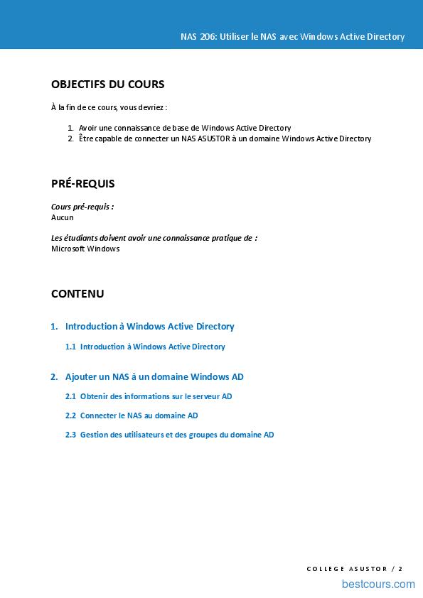 Tutoriel Utiliser le NAS avec Windows Active Directory 2