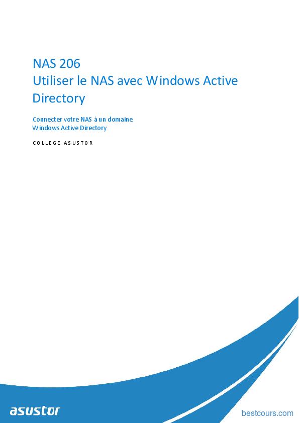 Tutoriel Utiliser le NAS avec Windows Active Directory 1